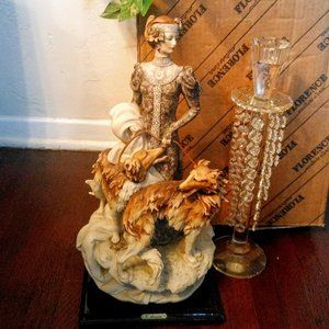 ★⬇️★ GIUSEPPE ARMANI Figurine Lady w/Dogs!!!